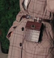 Decorative shoulder crossbody bag