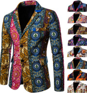 National style printed large size small suit
