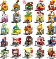 Senbao children's city mini street view building blocks puzzle assembly toys