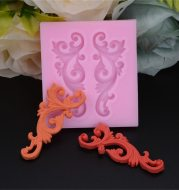 Fondant carving hollow silicone mold