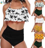 Split ruffle swimsuit