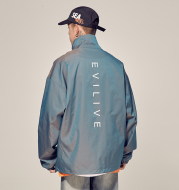 Spring stand collar reflective men's jacket