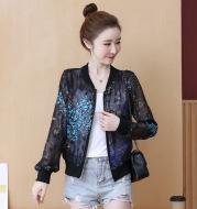 Chiffon long sleeve loose jacket