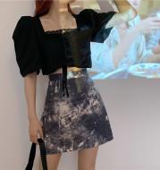 Retro A-line skirt