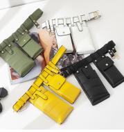 Belt Mesh Red Keychain Belt Bag