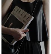 Eager craft black leather vest
