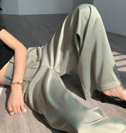 High end Satin drape wide leg pants