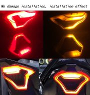 Retro motorcycle taillight