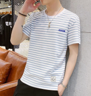 Striped wild casual bottoming shirt