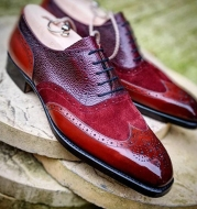 British style carved lace Goodyear breathable high-end men's shoes