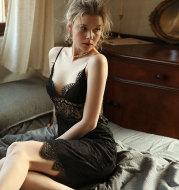 Sexy V-neck strap nightdress
