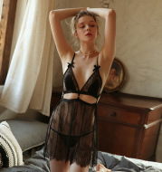 Lace-up Suspender Nightdress