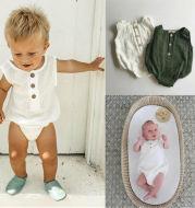 Baby solid color cotton robe