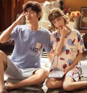 Couple Pajamas Short Sleeve Set