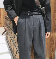 Baggy straight leg long pants