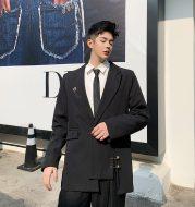 Asymmetric suit coat