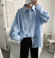 Men's casual loose simple BF loose shirt.