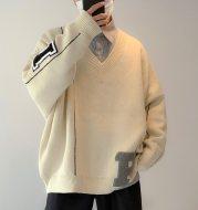 Loose V-neck sweater
