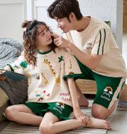Short-sleeved couple pajamas