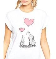 Elephant balloon print T-shirt
