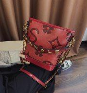 Retro fashion embossed shoulder crossbody bag