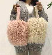 Plush and lovely fur bag