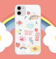 Cartoon rainbow flower phone case