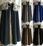 Renaissance fur collar cloak