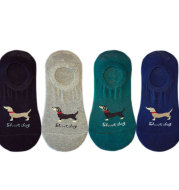 Pure color boat socks