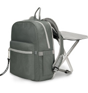 Folding stool bag can sit sports backpack