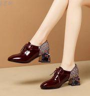 Rhinestone British Leather Shoes