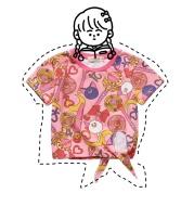 Printed beautiful girl parent-child T-shirt