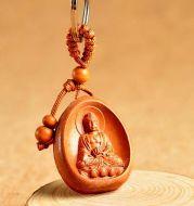 Eight patron saint keychains