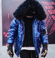 Men's warm winter loose cotton jacket