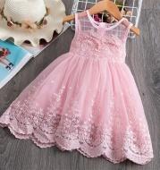 Girls dress lace cutout princess dress