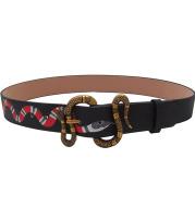 Men's snake buckle belt cowhide men's belt