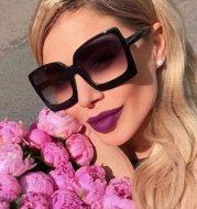 Retro bag flower leopard sunglasses