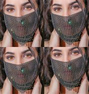 Mesh flash diamond breathable mask