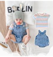 Infant denim overalls