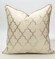 Diamond-shaped champagne gold pillowcase