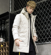 Hooded thick warm down jacket