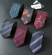 Male business striped retro suit tie