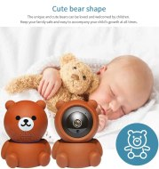 Bear Camera1080P Wifi IP Camera Auto Tracking IR Night Vision Home Security Camera