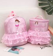 Children's dance bag lace backpack