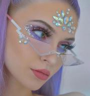 Fashion rimless sunglasses for women