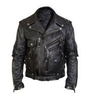 Men's cycling leather jacket