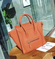 Smiley leather handbag