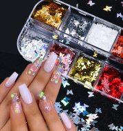 Symphony butterfly sequin nail decoration