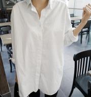Loose V-neck white shirt