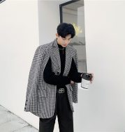 Thick houndstooth suit